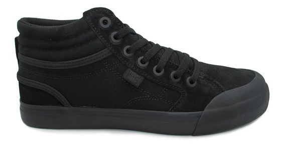 Tenis Dc Shoes Evan Hi Youth Adbs300255 3bk Black Negro