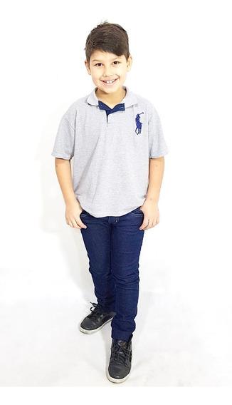 Calça Jeans Juvenil Para Memino Skinny Com Elastano 8 Ao 16