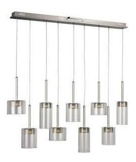 Lámpara Colgante 9 Focos Led, Ideal Para Barra / Desayunador