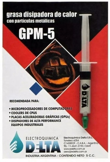 Grasa Disipadora Particulas Metalicas Jeringa 5cc Gpm-5
