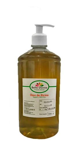 1 Lt Óleo De Rícino Cabelo Com Bico Dispenser