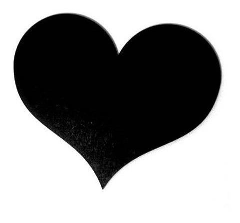 Placa Lousa Memo Blackboard Coração 15cm