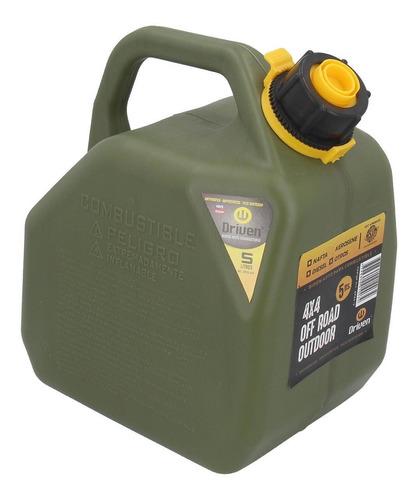 Imagen 1 de 2 de Bidon De Combustible Profesional Verde De 5 Litros Driven