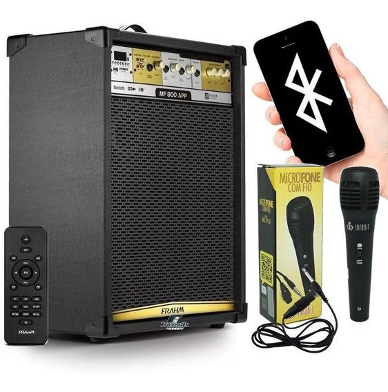 Caixa Amplificada Frahm Mf 800 App Bluetooth Auditorio 700w