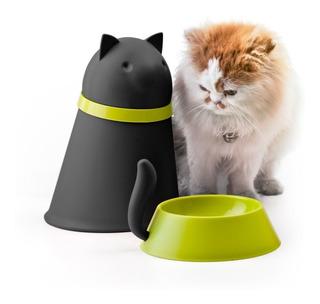 Plato De Comida Para Gato Con Contenedor Incluido Qualy