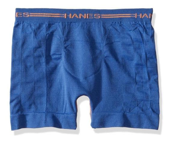 Hanes Boxer Seamless Sin Costuras Para Niño-azul