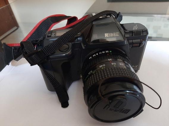 Máquina Fotográfica Analógica Ricoh Xrx Usada Com 2 Lentes