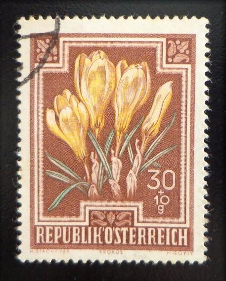 Austria Flores, Sello Mi. 870 Alto 1948 Usado L10426