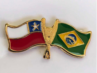 Pin Banderas Chile Y Brasil