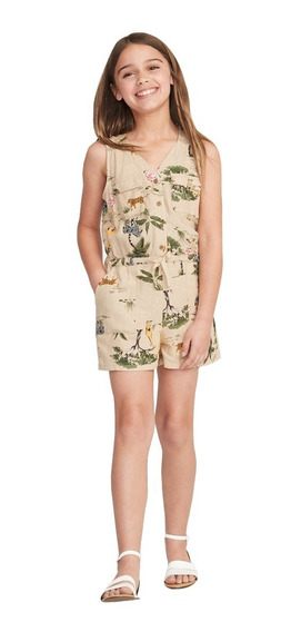 Jumpsuit Niña Short Sin Manga Estampado Jumper Old Navy