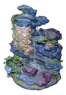 C&h Bonita Fuente De Agua, Diseño De Piedras De Rio