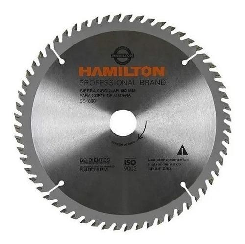 Hoja Sierra Circular 184 Mm 60d Para Melamina 7 1/4 Hamilton