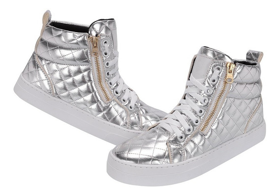 Bota Skatista Zíper Feminina Sneaker Casual Selten B2 Prom