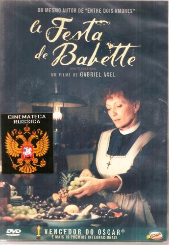 Dvd A Festa De Babette, De G Axel Com Stephane Audran 1987 +