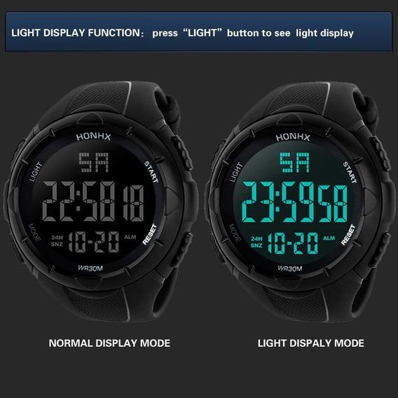 2 Relógios Led Digital Honhx Masculino Esportivo + Caixas