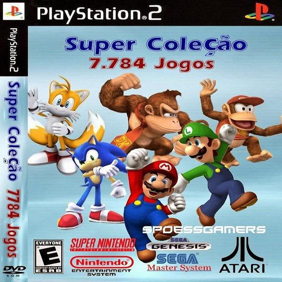 Super Coleção 7784 Jogos Super Nitendo, Atari, Sega Ps2