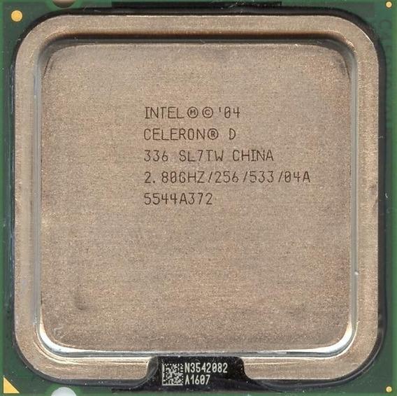 Kit 7 Processador Celeron D 336 / Slot 775 / 2.80/256/533