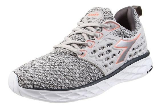 Zapatillas Diadora React W Running Gym Envíos Gris
