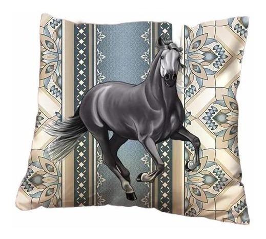 Capa De Almofada Moda Decoração Cavalo Platinado C2005