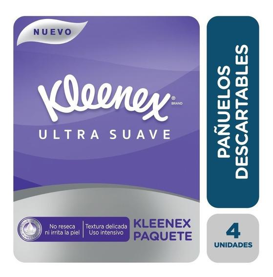 Pañuelo Descartable Kleenex Ultra Suave Paquete X 4 Pañuelos