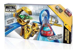 Pista Autos Lanzador Metal Machines Construction Destruction