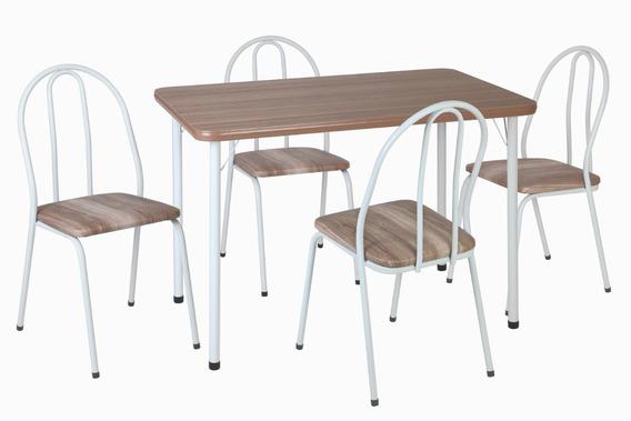 Conjunto De Mesa Com 4 Cadeiras Andréa Sala Jantar-414/308
