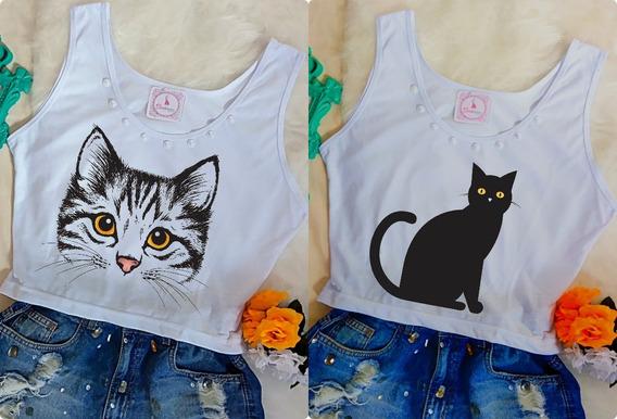 Kit 2 Camiseta Blusa Feminina Baratas Atacado T-shirt Verão
