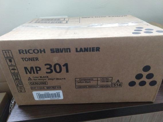 6 X Toner Ricoh Mp301 Original Lacrado Na Caixa