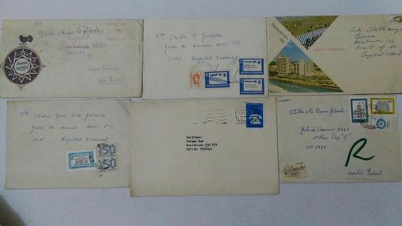 Sobres Cartas Circulados Estampillas Lote X6