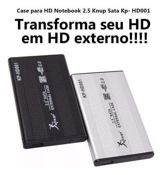 Case Gaveta Hd Sata Externo 2.5 Usb Notebook Pronta Entrega