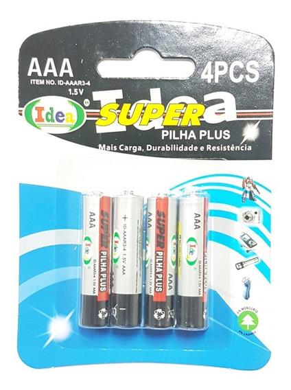 16 Unidades Pilha Palito Aaa Super Plus - Idea - De 1.5 V