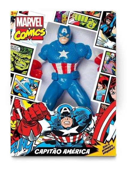 Boneco Capitão América Comics 45 Cm Mimo