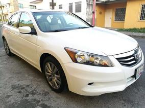 Honda Accord Ex 2012 4 Cilindros Piel Q/c Impecable