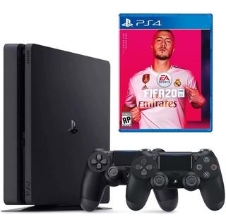 Playstation 4 Slim 1tb, 2 Controles, Fifa 20, Audifonos