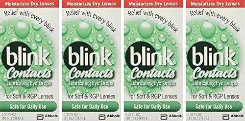 Blink Contacts Lubricant Eye Drops 034 Oz Paquete De 4