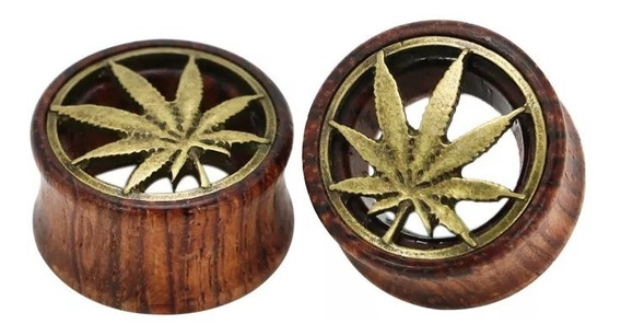 Expansor Madera 1 Par Diseño Marihuana