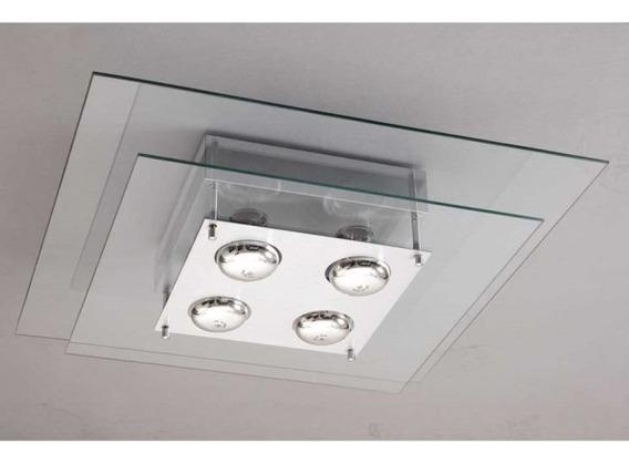 Lustres Plafon Sala Quarto 4 Lampadas 50x50 Transparente