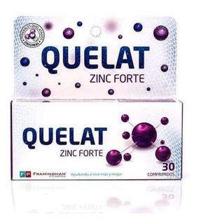 Quelat Zinc Forte Minerales Aminoquelados Suplemento X 30