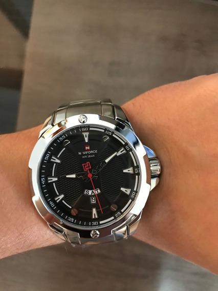 Relógio Naviforce Gray - Novo - À Prova D