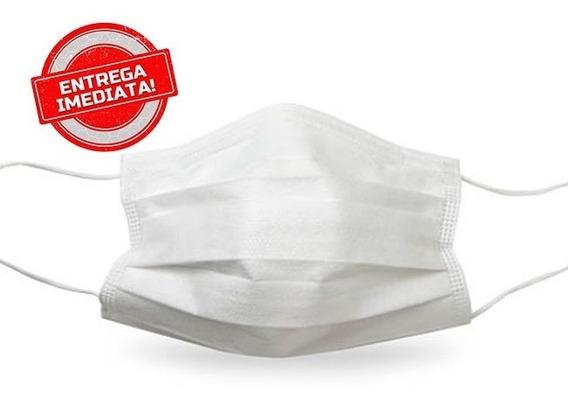 Máscara Proteção Virus Dupla Lavável Com Elástico