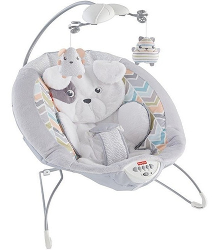 Fisher Price My Little Snugapuppy Deluxe Bouncer Blanco
