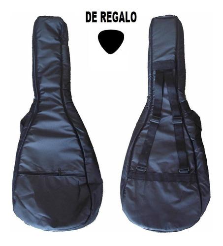 Imagen 1 de 8 de Funda Guitarra Acustica Acolchada Impermeable Doble Correa