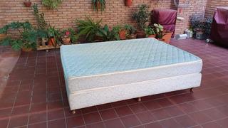 Sommier + Colchon 2 Plazas Usado - 190x140cm 9 Patas