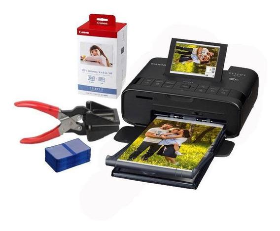 Kit Impressora Canon Selphy Cp1300 + Cortador + Carteirinhas
