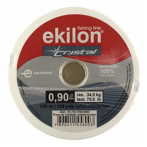 Linha Nylon Crystal P/ Pesca 0,90mm