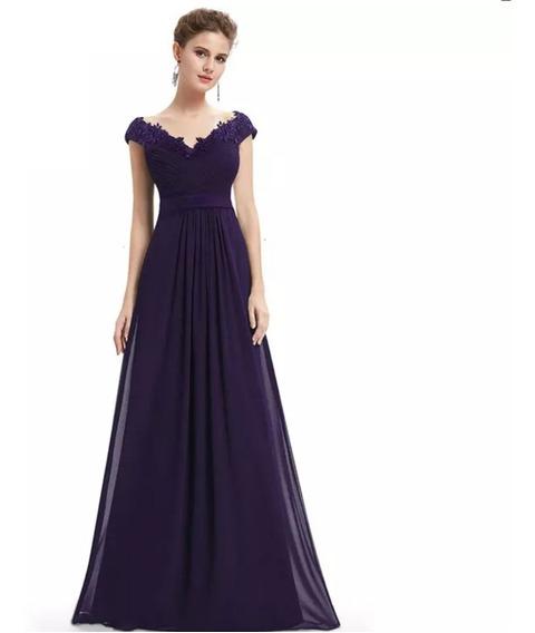 color rápido como comprar nueva especiales Vestidos De Fiesta Color Morado - Vestidos en Mercado Libre ...