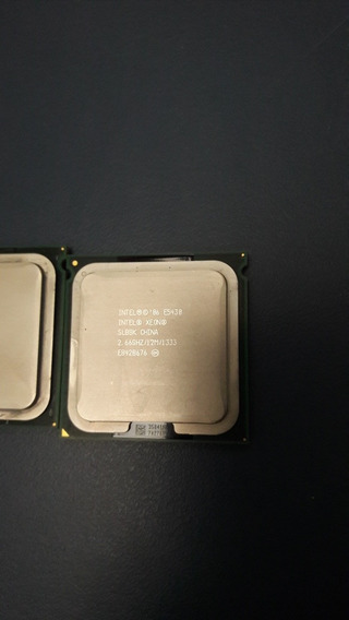 2 Processadores Xeon E5430 Quad Core 2.66ghz/12m/1333mhz