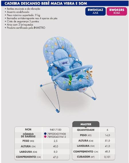 Cadeira De Descanso De Bebe C/ Segurança E Conforto C Musica