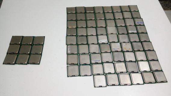 Lote De 90 Processadores Intel Pentium,celeron,dual Core.