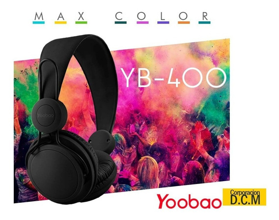 Audifonos Con Microfono Yoobao Yb-400 3.5mm Jack